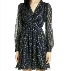 kate spade night sky lurex dot dress 6